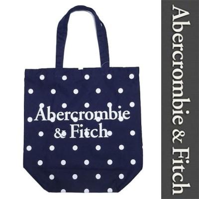 新品 Abercrombie & Fitch TOTE BAG アバクロンビー&フィッチ トートバッグ ネイビー 水玉 手さげ エコバッグ 正規品 (G0218-AFG0001)