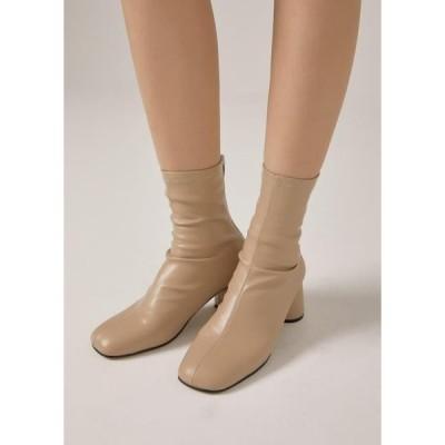 レディース ブーツ Round heel ankle boots