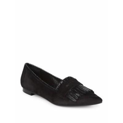 サックスフィフスアベニュー レディース フラットシューズ Kiltie Fringed Flat Loafers