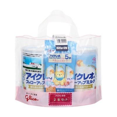 アイクレオのフォローアップミルク 満9ヶ月頃から(大缶820g×2缶+スティックタイプ13.6g×5本付き)栄養サポート ベビー食品【A】