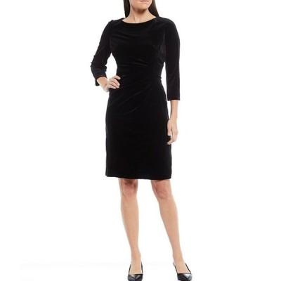 プレストンアンドヨーク レディース ワンピース トップス Roselle Velvet Ruched Waist 3/4 Sleeve Sheath Dress