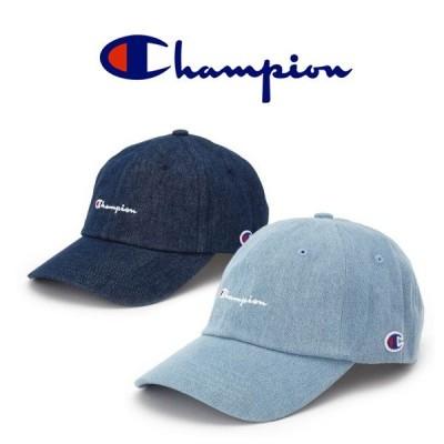 チャンピオン キャップ Champion キャップ デニム ローキャップ 帽子 ロゴ 刺繍 キャップ インディゴ メンズ レディース 男女兼用 381-0136