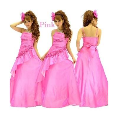 シャーリングシャンブレー姫ロングドレス