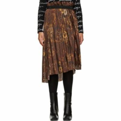 バレンシアガ Balenciaga レディース ひざ丈スカート スカート Brown Floral Pleated Skirt Brown