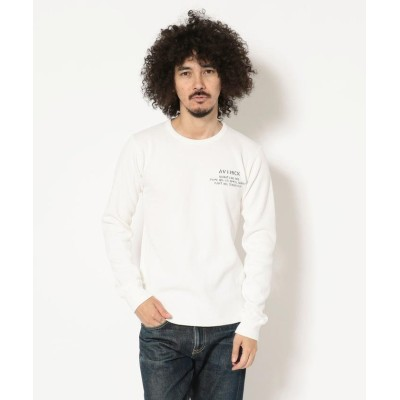 【アヴィレックス】 AVIREX/アヴィレックス/ ハニカムワッフル クルーネック Tシャツ/ HONEY COMB WAFFLE CREW NECK T-SHIRT メンズ ホワイト XXL AVIREX
