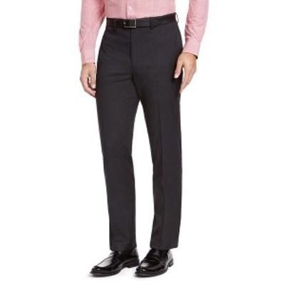 アイゾッド メンズ カジュアルパンツ ボトムス Men's Classic-Fit Medium Blue Suit Pants Charcoal Sharkskin