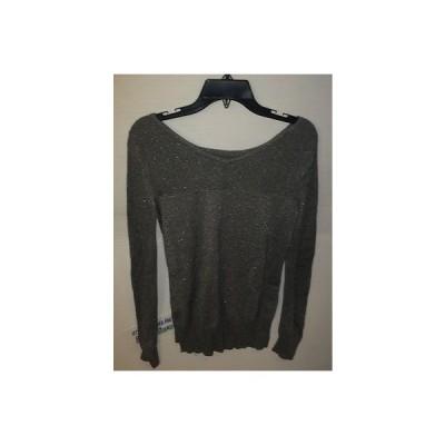 セーター エヌ ワイ ディー ジェー NYDJ Chino Metallic Open-Stitch Sweater  SC213H242 SILVER SIZE SMALL  BRAND NEW!