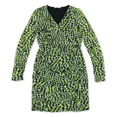 バースリー レディース ワンピース トップス Ruched Vibrant Print Dress