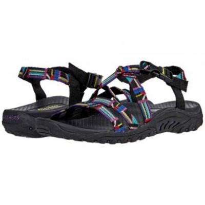SKECHERS スケッチャーズ レディース 女性用 シューズ 靴 サンダル Reggae Native Vibez Black Multi【送料無料】