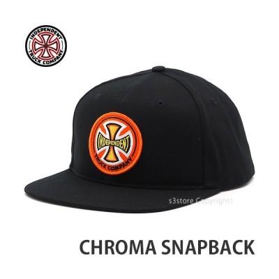 インディペンデント クロマ スナップバック INDEPENDENT CHROMA SNAPBACK スケボー キャップ 帽子 CAP SKATE カラー:BLACK サイズ:OS