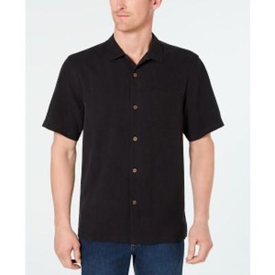 トッミーバハマ メンズ シャツ トップス Men's Weekend Tropics Silk Shirt Black