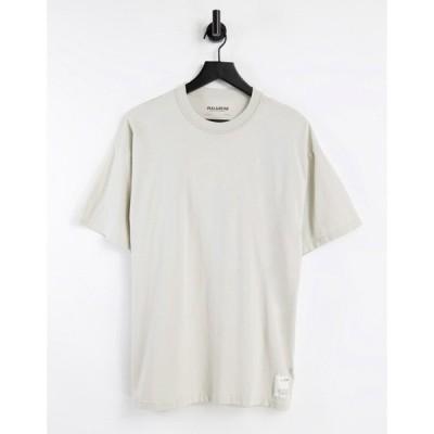 プル&ベアー Pull&Bear メンズ Tシャツ トップス overdye co-ord t-shirt in ecru エクリュ