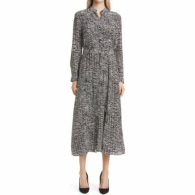 ヒューゴ ボス BOSS レディース ワンピース ワンピース・ドレス Delkas Long Sleeve Tie Waist A-Line Dress Black Fantasy