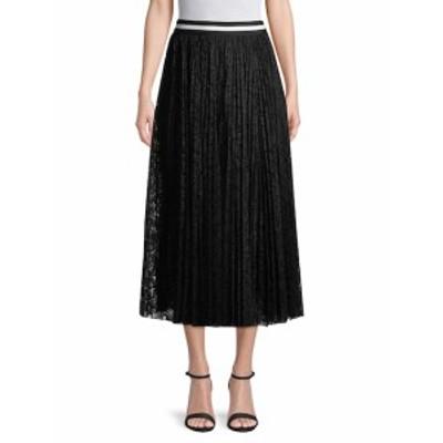 レディース スカート Pleated Lace Midi Skirt