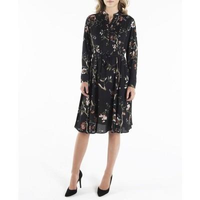 ナネットレポー ワンピース トップス レディース Nanette Lepore Long Sleeve Pintuck Shirtdress with Sash Belt Black