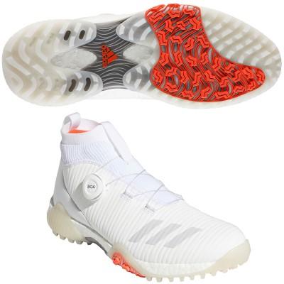 アディダス Adidas コードカオスボアミッドシューズ 25cm フットウェアホワイト/グレーワン/ソーラーレッド レディス