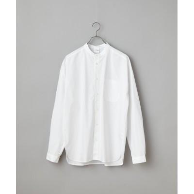 コットンスタンドカラーシャツ