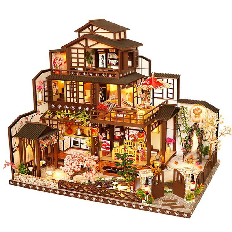 Cutebee Diy小屋袖珍屋 古都望月 現貨 附防塵罩音樂盒LED燈 微景觀娃娃屋 手工製作小房子模型拼裝交換禮物