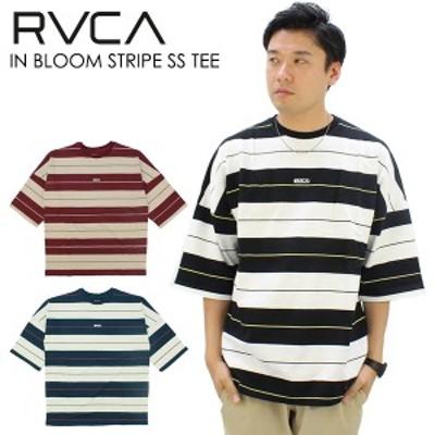 ルーカ(RVCA) IN BLOOM STRIPE SS TEE メンズ 7分袖/Tシャツ(ba041-200) /男性用   国内正規品 [AA]