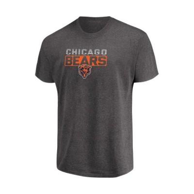 メンズ スポーツリーグ フットボール Men's Majestic Heathered Charcoal Chicago Bears Come Into Play T-Shirt Tシャツ
