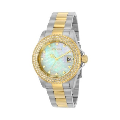腕時計 インヴィクタ Invicta 22732 Lady's Two Tone Steel MOP Dial Crystal Dive Watch