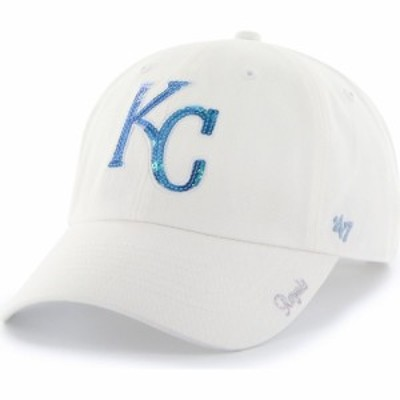 フォーティセブン 47 レディース キャップ 帽子 Kansas City Royals Sparkle Clean Up White Adjustable Hat