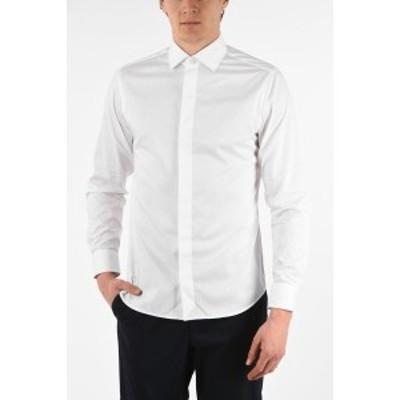 ERMENEGILDO ZEGNA/エルメネジルド ゼニア White メンズ ZZEGNA Hidden Closure WRINKLE FREE Slim Fit Shirt dk