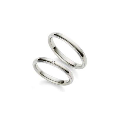2本で9万円台の結婚指輪 プラチナとチタンを使用した、傷がつきにくい丈夫な鍛造製法 輝きの美しいダイアモンド使用 ペアリング