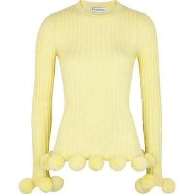 J.W.アンダーソン JW Anderson レディース ニット・セーター トップス Yellow Pompom-Embellished Wool Jumper Yellow