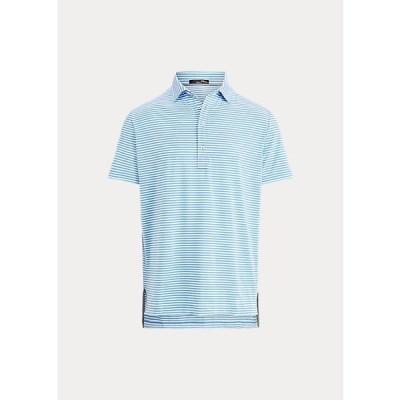 ラルフローレン メンズ RLX Ralph Lauren Active Fit Golf Polo Shirt ポロシャツ 半袖 ゴルフ Blue Rain/Pure White
