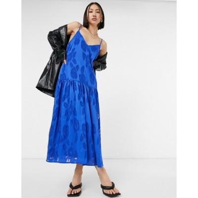 ネバーフリードレス Never Fully Dressed レディース ワンピース スリップドレス ワンピース・ドレス Blue Burn Out Slip Dress ブルー