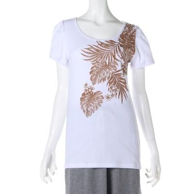 kahiko トロピカル リーフ フライス Tシャツ