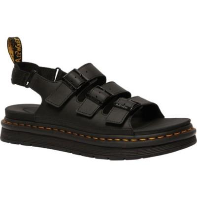 ドクターマーチン サンダル シューズ メンズ Soloman Walking Sandal (Men's) Black Hydro PU Coated Leather