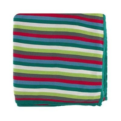 [新品]KicKee Pants Print Knitted Toddler Blanket, Ultra Silky Soft Baby Blankets, Made from Viscose from Bamboo Fabric, Security Blank