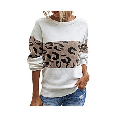 Women Sweater Fashion Loose Long Sleeve Pullover Leopard Printing Simple To