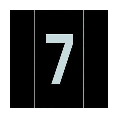 緑十字 数字ステッカー 7 100×50mm 10枚組 オレフィン (224107)【(株)日本緑十字社】