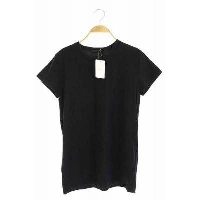 【中古】未使用品 エーピーストゥディオ AP STUDIO 18SS MINIMALT-Shirt Tシャツ カットソー 半袖 プルオーバー F 黒 ブラック レディース 【ベクトル 古着】