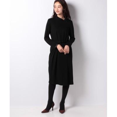 【ラピーヌ ブランシュ】 ストレッチポンチドレス レディース ブラック 38 LAPINE BLANCHE