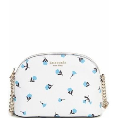 ケイトスペード レディース ショルダーバッグ バッグ Floral Small Dome Zip Top Crossbody Bag Optic White Multi