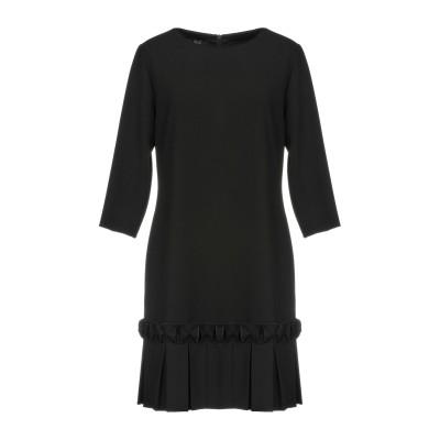 CLIPS ミニワンピース&ドレス ブラック 44 ポリエステル 63% / レーヨン 32% / ポリウレタン 5% ミニワンピース&ドレス