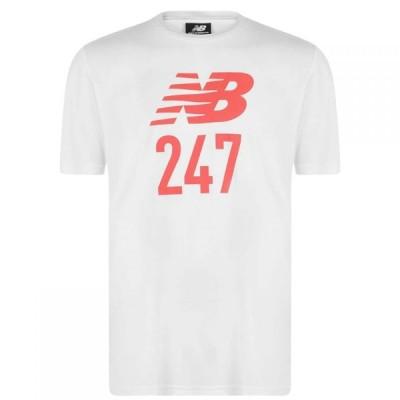 ニューバランス New Balance メンズ Tシャツ トップス 24/7 Short Sleeve Sport T Shirt White