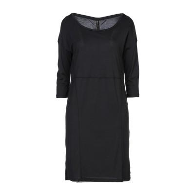 マニラ グレース MANILA GRACE ミニワンピース&ドレス ブラック 1 テンセル 100% / コットン ミニワンピース&ドレス