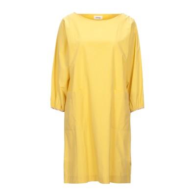OTTOD'AME ミニワンピース&ドレス イエロー 42 コットン 100% ミニワンピース&ドレス