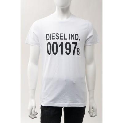 ディーゼル Tシャツ 半袖 丸首 クルーネック T-DIEGO-001978 MAGLIETTA メンズ 00SASA 0AAXJ ホワイト DIESEL