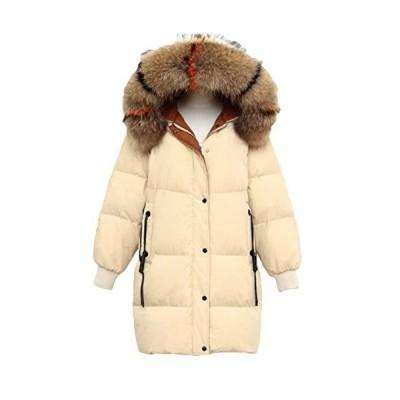 [サ二ー] 秋冬 ファスナー ダウンジャケット レディース 暖かい 中綿コート スリム ロング丈 中綿アウター ?