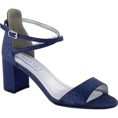 タッチアップス Touch Ups レディース サンダル・ミュール シューズ・靴 Jackie Criss Cross Sandal Navy Glitter