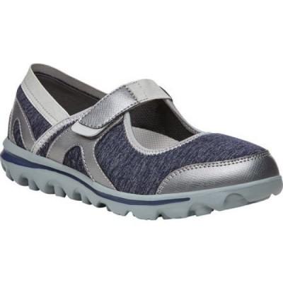 プロペット Propet レディース シューズ・靴 Onalee Mary Jane Blue/Silver Jersey