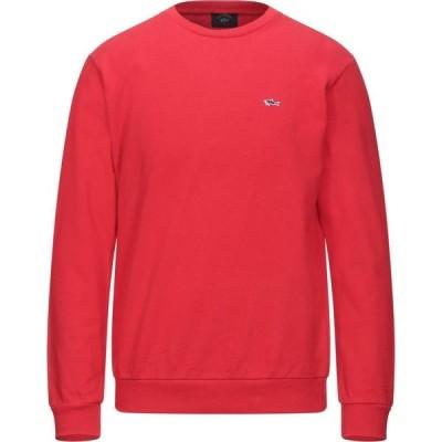 ポール シャーク PAUL & SHARK メンズ スウェット・トレーナー トップス sweatshirt Red