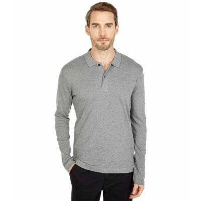 セレクテッドオム シャツ トップス メンズ Paris Long Sleeve Polo Medium Grey Melange