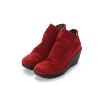 ヨーロッパコンフォートシューズ EU Comfort Shoes FLYLONDON ショートブーツ(YIP500.505) (ワイン)